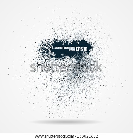 Abstract black grunge banner - stock vector