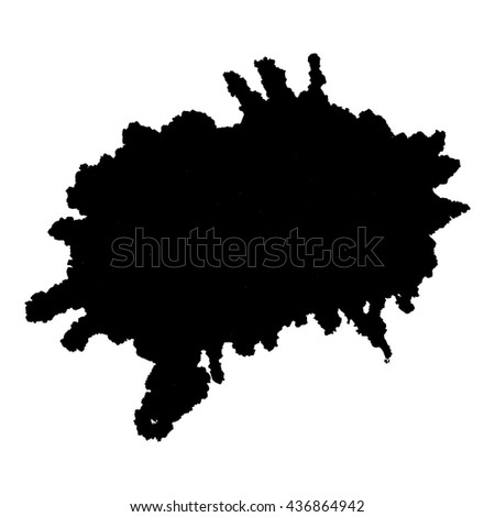 Abstract black ink spot background. Vector illustration. Grunge texture for cards and flyers design. A model for the creation of digital brushes
