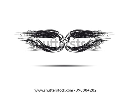 abstract black mask - stock vector