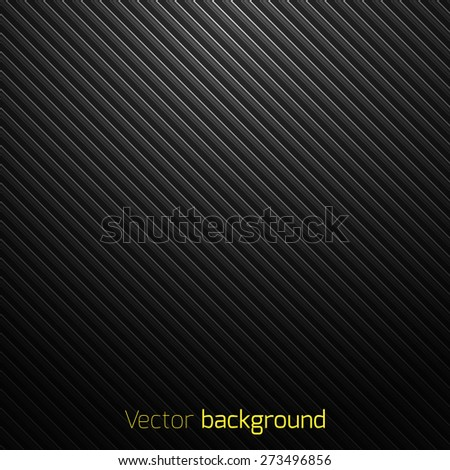 Abstract black striped techno background. Vector illustration - stock vector