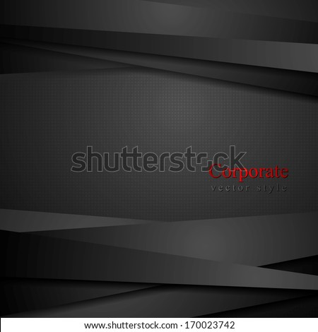 Abstract black stripes tech background - stock vector