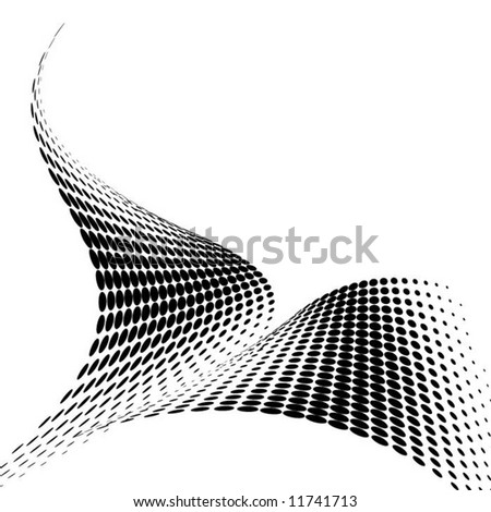 abstract black vector dots background - stock vector
