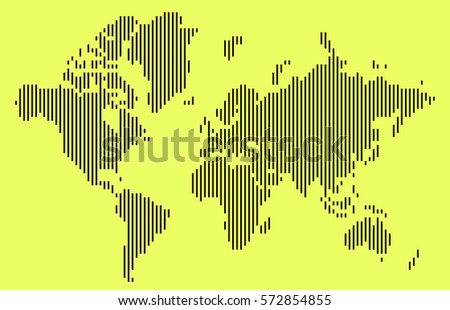 Abstract black vertical bar world map vector de stock572854855 abstract black vertical bar world map isolated on yellow background vector illustration gumiabroncs Images