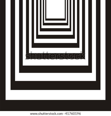 Abstract black & white design - stock vector