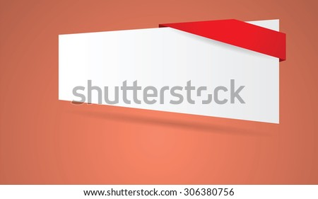 abstract blank banner vector illustration