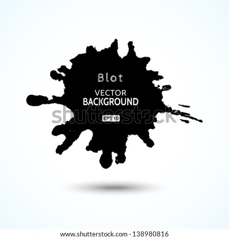 Abstract blot vector background with space for your text - stock vector