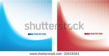 Abstract blue and red background - stock vector