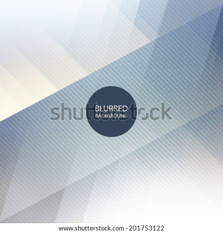 Abstract Blue and White Background Design with Blurred Image Pattern - stock vector