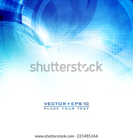 Abstract blue and white color artistic winter background with lighting effect. Vector