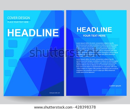 Abstract Blue Annual Report Brochure Flyer Design Template Vector Leaflet Cover Presentation Flat Background