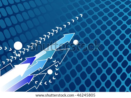Abstract blue arrow background with place for your text