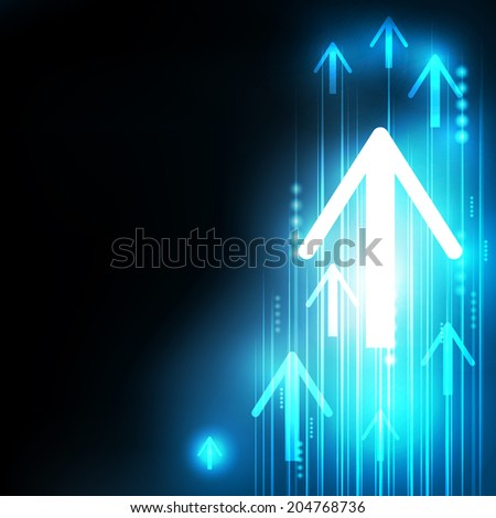 Abstract Blue Arrows technology communicate background, vector illustration