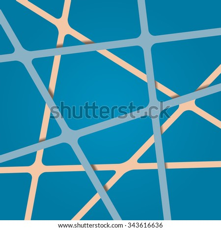 Abstract blue background. Abstract blue lines. Overlapping abstract art blue. Streaks abstract blue. Abstract blue tapes. Abstract blue stripes. Abstract blue light design 3d background. - stock vector