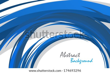 Abstract blue background. Clip-art - stock vector