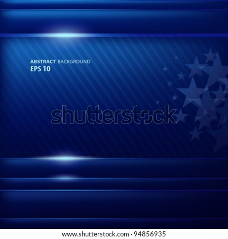Abstract blue background flag american, vector illustration - stock vector