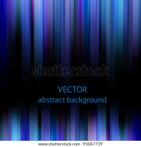 Abstract blue background for design - stock vector