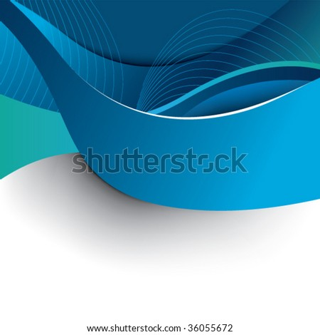 Abstract blue background template - stock vector