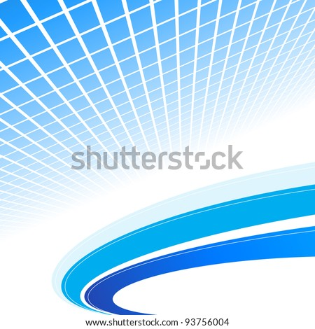 Abstract blue background. Vector illustration. Clip-art - stock vector