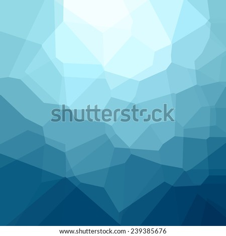 Abstract blue background. Vector illustration without transparency - stock vector