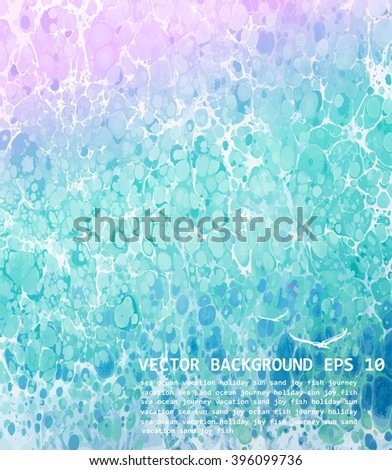 Abstract blue background. Vector sea illustration, EPS 10 - stock vector