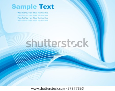 abstract blue background wave vector illustration