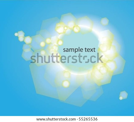 Abstract Blue Background Whit Text Space - stock vector
