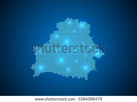 Abstract Blue Background Belarus Map Internet Stock Vector ...