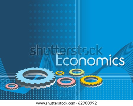 abstract blue background with colorful gears