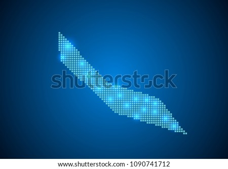 Abstract Blue Background Curacao Map Internet Vector de ...