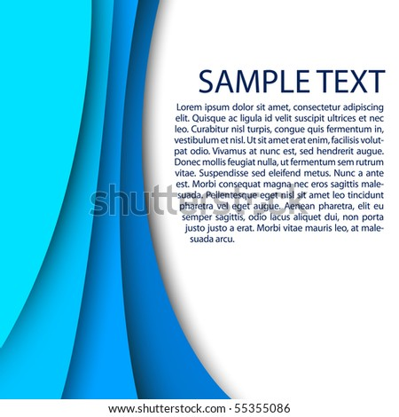 Abstract blue background with custom text copy space - stock vector