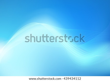 Abstract Blue Background with Light Curves, Vector Wallpaper