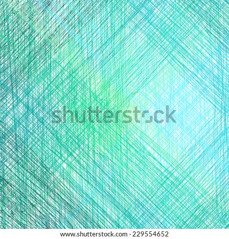 Abstract blue background with pencil drawing. Vector illustration - stock vector