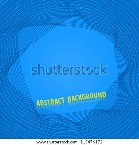 Abstract blue background with stripes - stock vector