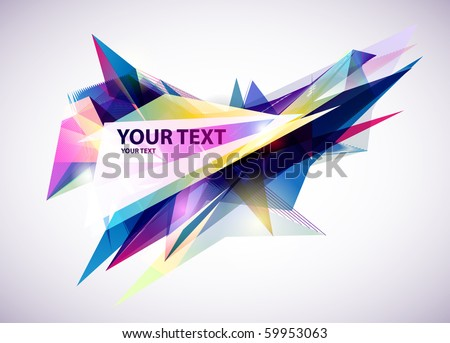 Abstract  blue banner. - stock vector