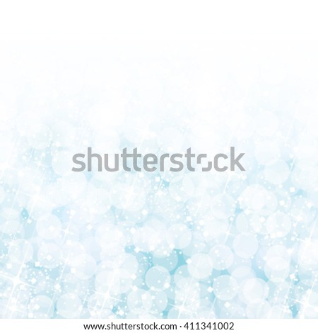 Abstract blue bokeh lights background. Vector illustration. - stock vector