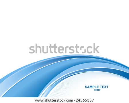 Abstract blue business background - stock vector