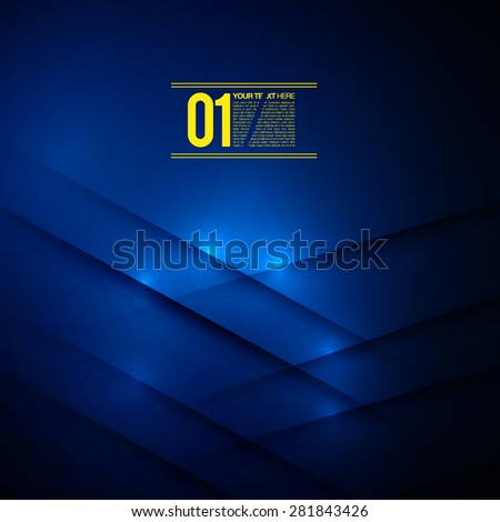 Abstract Blue Business Design | EPS10 Vector Background - stock vector