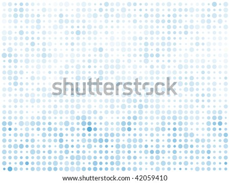 Abstract blue circles bright mosaic vector background.