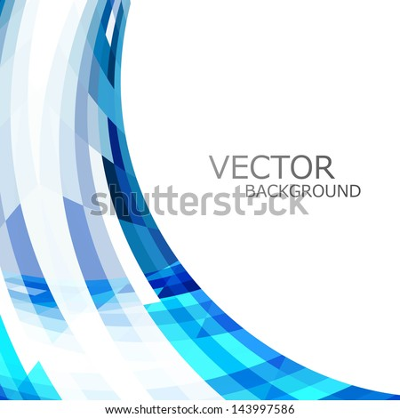 abstract blue colorful stylish wave technology white background vector - stock vector