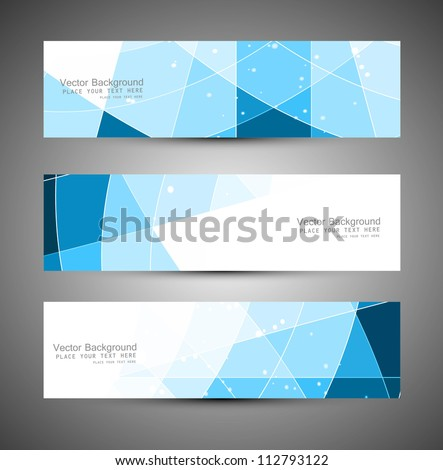 Abstract blue colorfull header mosaic wave vector illustration - stock vector