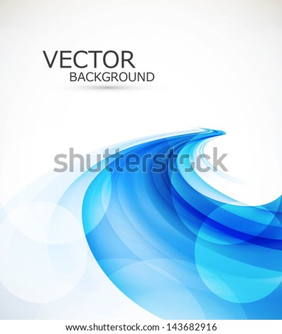abstract blue colorfull stylish wave background - stock vector