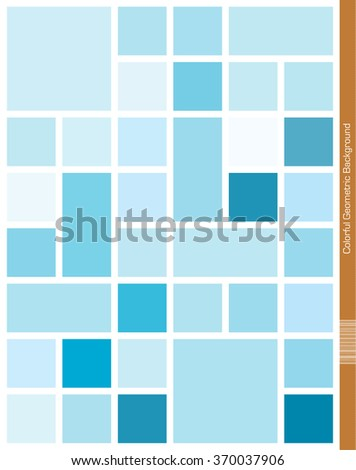 Abstract blue cube and rectangle Background. - stock vector