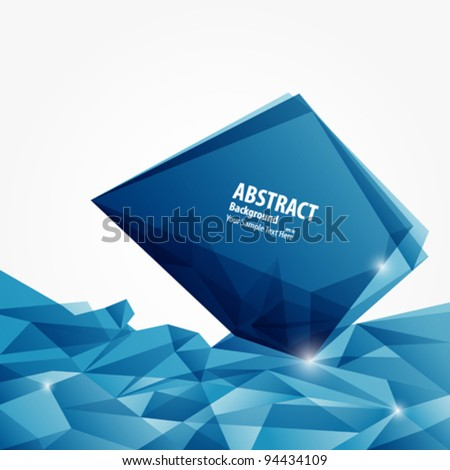 Abstract blue diamond background vector illustration - stock vector