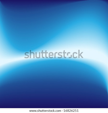 Abstract blue energy wave - stock vector
