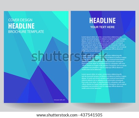 Abstract Blue Flyers Brochure Annual Report Stock Photo Photo