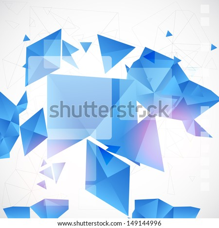 Abstract blue futuristic background for design - stock vector