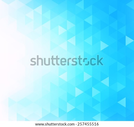 Abstract blue futuristic background with triangles. - stock vector