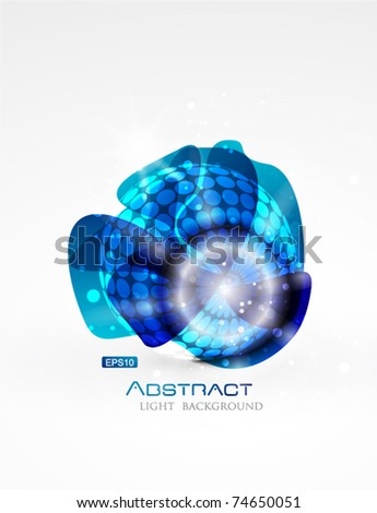Abstract blue global vector design - stock vector