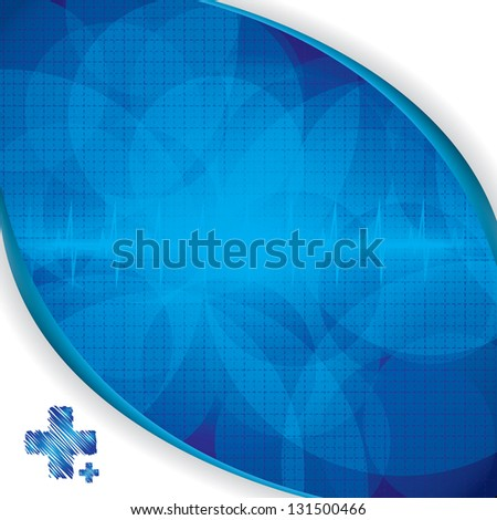 Abstract blue grid medical background - stock vector