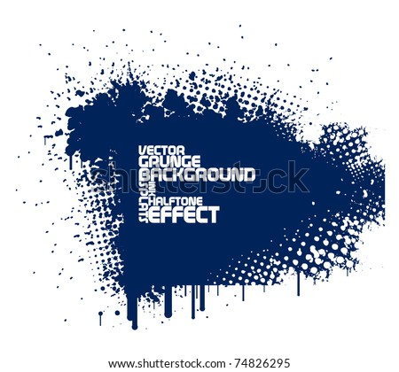 abstract blue grunge background - stock vector